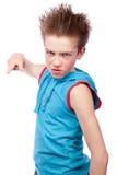 Adolescente agresivo Fotografía de archivo