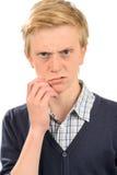 Adolescente agresivo Imagenes de archivo