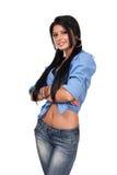 Adolescente aislado en blanco Foto de archivo