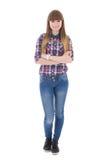 Adolescente aislado en blanco Imagen de archivo libre de regalías