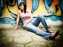 Adolescente al aire libre Foto de archivo libre de regalías
