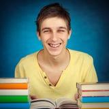 Adolescente alegre con libros Imagen de archivo libre de regalías