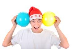 Adolescente alegre con los globos Fotos de archivo libres de regalías