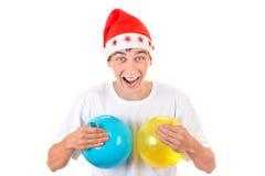 Adolescente alegre con los globos Imagenes de archivo