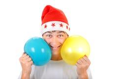 Adolescente alegre con los globos Foto de archivo libre de regalías