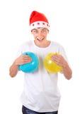 Adolescente alegre con los globos Foto de archivo