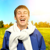 Adolescente alegre exterior Imagem de Stock Royalty Free