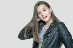 Adolescente alegre hermoso aislado Fotografía de archivo libre de regalías