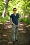 Adolescente all'aperto nel parco Fotografie Stock Libere da Diritti