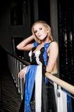 Adolescente alla moda in vestito lungo Fotografia Stock Libera da Diritti