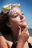 Adolescente alla spiaggia Fotografia Stock Libera da Diritti