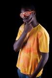 Adolescente amerocan del Afro Imagen de archivo