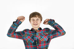 Adolescente amistoso feliz Imágenes de archivo libres de regalías