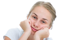 Adolescente annoiato Fotografia Stock Libera da Diritti