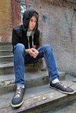 Adolescente ansioso al aire libre Imagen de archivo libre de regalías