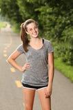 Adolescente apto que começ pronto ao exercício Fotos de Stock
