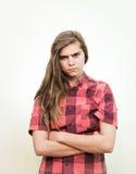 Adolescente arrabbiato Fotografia Stock Libera da Diritti