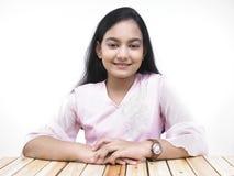 Adolescente asiático del origen indio Foto de archivo