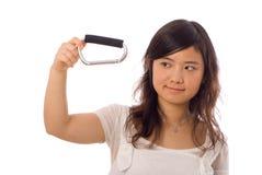 Adolescente asiático en blanco Imagen de archivo libre de regalías