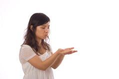 Adolescente asiático en blanco Foto de archivo libre de regalías