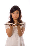 Adolescente asiático en blanco Fotografía de archivo libre de regalías