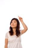 Adolescente asiático en blanco Imagen de archivo