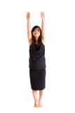 Adolescente asiático en la falda negra aislada Imagen de archivo