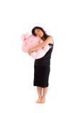 Adolescente asiático en la falda negra aislada Fotografía de archivo libre de regalías