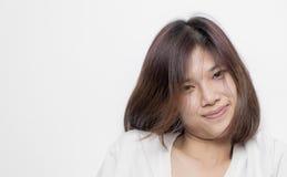 Adolescente asiático lindo con la barbilla gorda Fotos de archivo