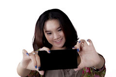 Adolescente asiático que hace el selfie Foto de archivo libre de regalías