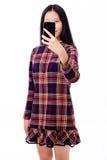 Adolescente asiático que toma el selfie Imagen de archivo