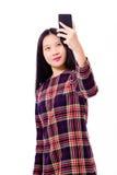 Adolescente asiático que toma el selfie Foto de archivo