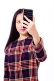 Adolescente asiático que toma el selfie Imagenes de archivo