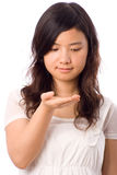 Adolescente asiatico nel bianco Fotografie Stock Libere da Diritti