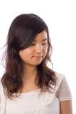 Adolescente asiatico nel bianco Fotografie Stock