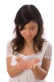 Adolescente asiatico nel bianco Immagini Stock Libere da Diritti