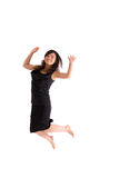 Adolescente asiatico in pannello esterno nero isolato Immagine Stock Libera da Diritti