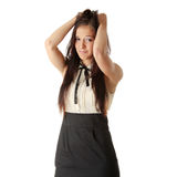 Adolescente asustada Foto de archivo libre de regalías
