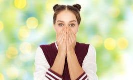 Adolescente asustado o confuso Imagen de archivo