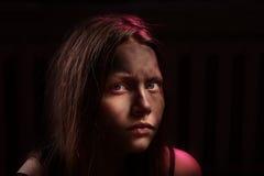 Adolescente asustado sucio Imagen de archivo