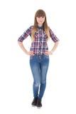 Adolescente atractivo aislado en blanco Foto de archivo libre de regalías