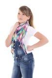 Adolescente atractivo aislado sobre blanco Imagenes de archivo
