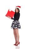 Adolescente atractivo con el presente Fotografía de archivo libre de regalías