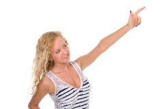 Adolescente atractivo que señala con el dedo Fotos de archivo libres de regalías