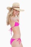 Adolescente attraente in beachwear fotografia stock libera da diritti