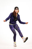 Adolescente in attrezzatura hip-hop Fotografia Stock Libera da Diritti