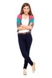 Adolescente avec des bras croisés Photo libre de droits