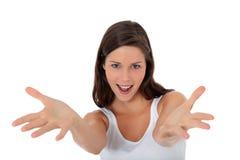 Adolescente avec l'expression heureuse Photographie stock libre de droits