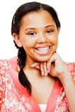 Adolescente avec la main sur le menton Photo stock