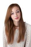 Adolescente avec les cheveux rouges image libre de droits